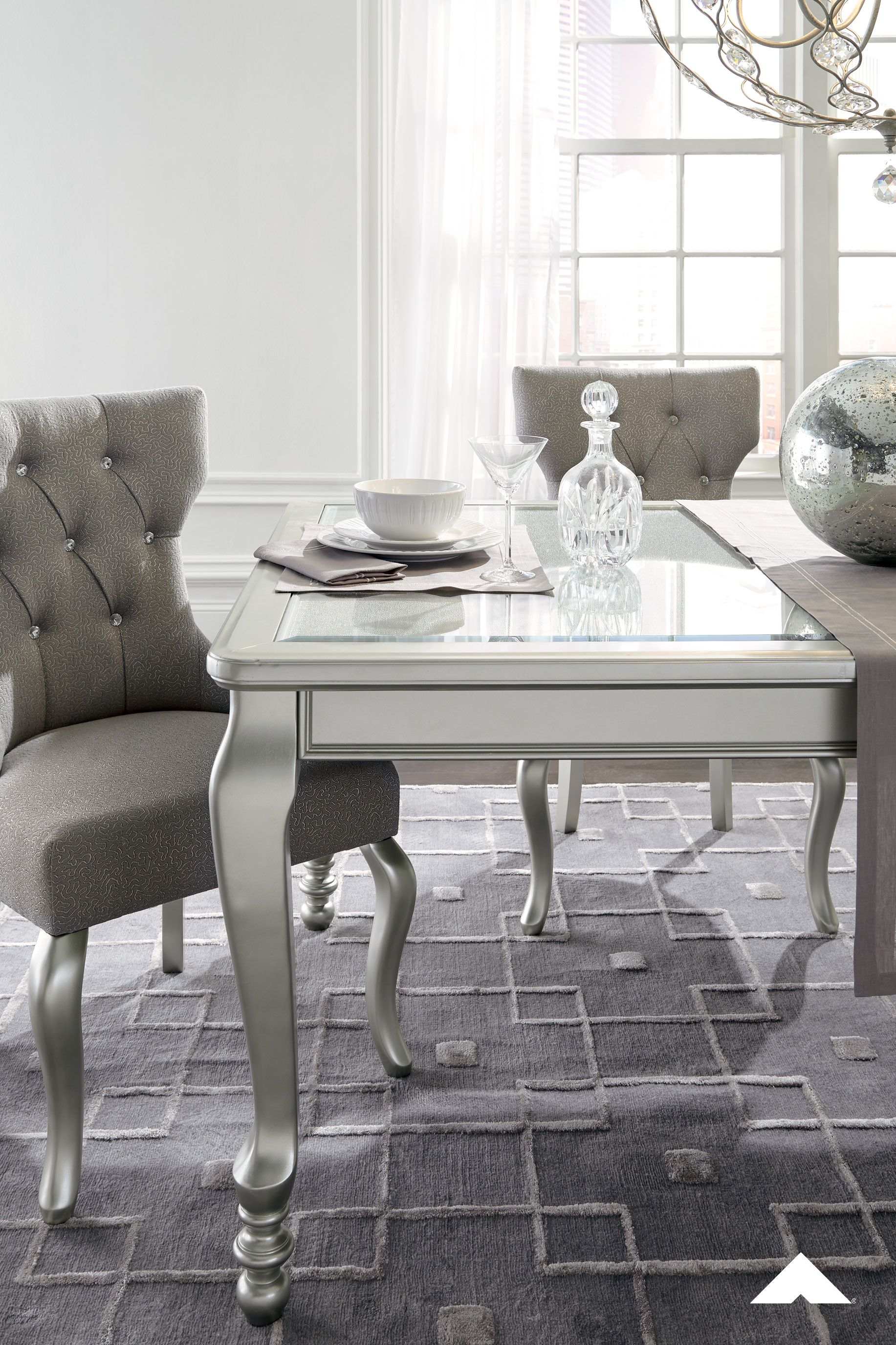 Coralayne silverwhite dining upholstered chair this