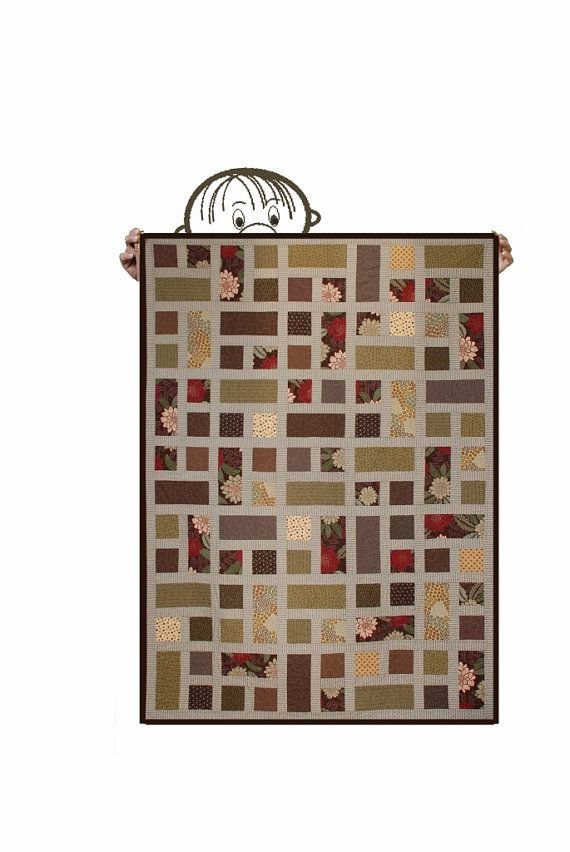 Hey, I found this really awesome Etsy listing at https://www.etsy.com/listing/207007878/quilt-lap-throw-size-modern-brown-red