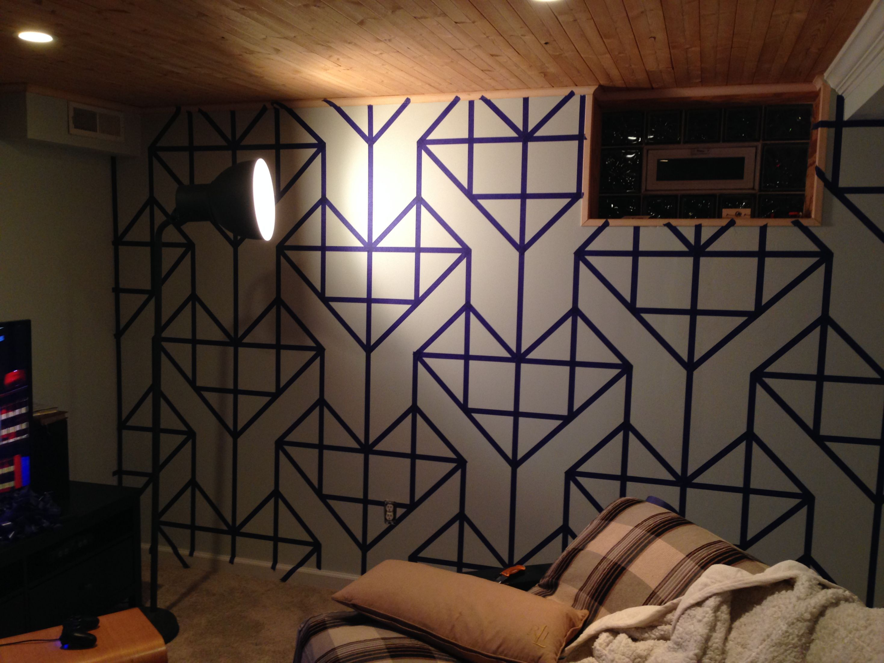 paint wall with washi tape - Paint Tape Design Ideas