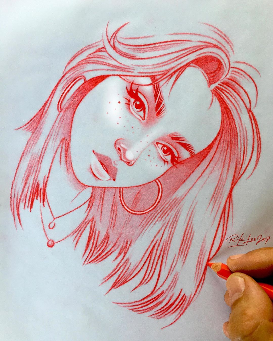 1 461 Likes 12 Comments Rik Lee Rikleeillustration On Instagram When She Looks At You That Way And Cool Art Drawings Art Drawings Sketches Art Sketches