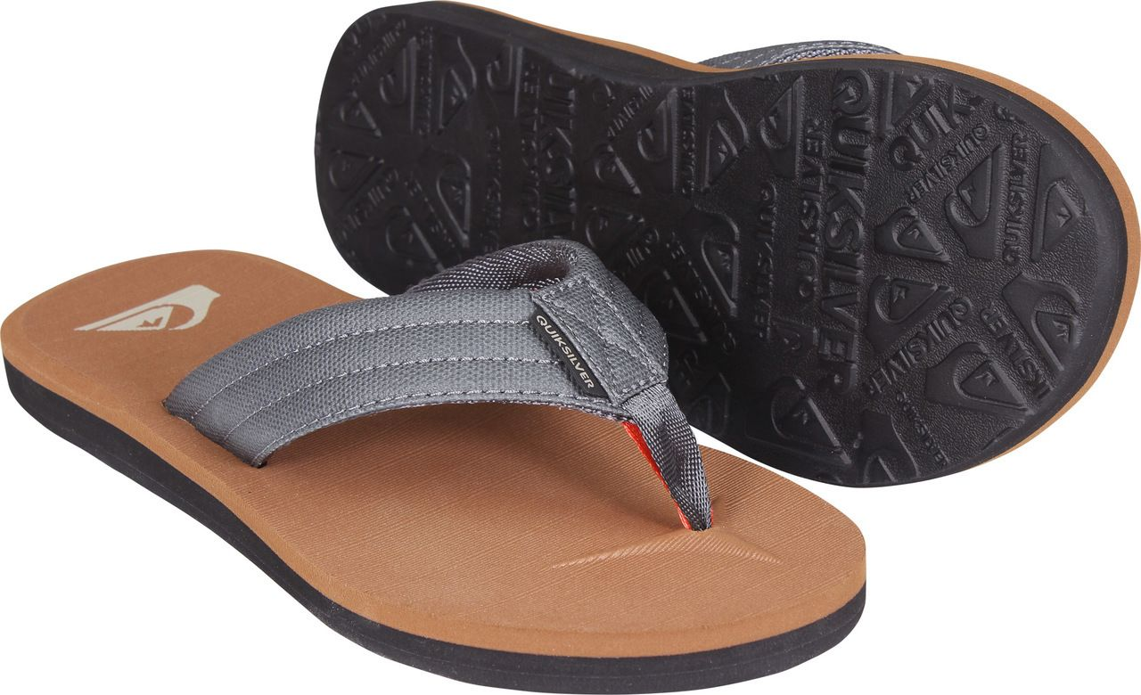8bd8a98579 Quiksilver Carver Tropics Sandals (Brown/Gray/Black) | Spring 2018 ...