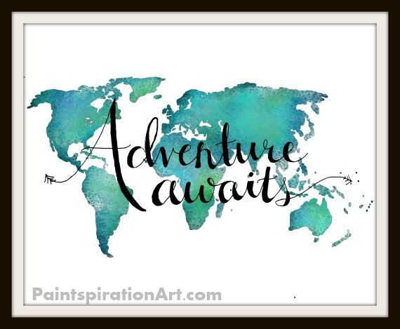Travel art print world map art print adventure art travel travel art print world map art print adventure art travel quote print wanderlust world map typography art inspirational quotes gumiabroncs Images