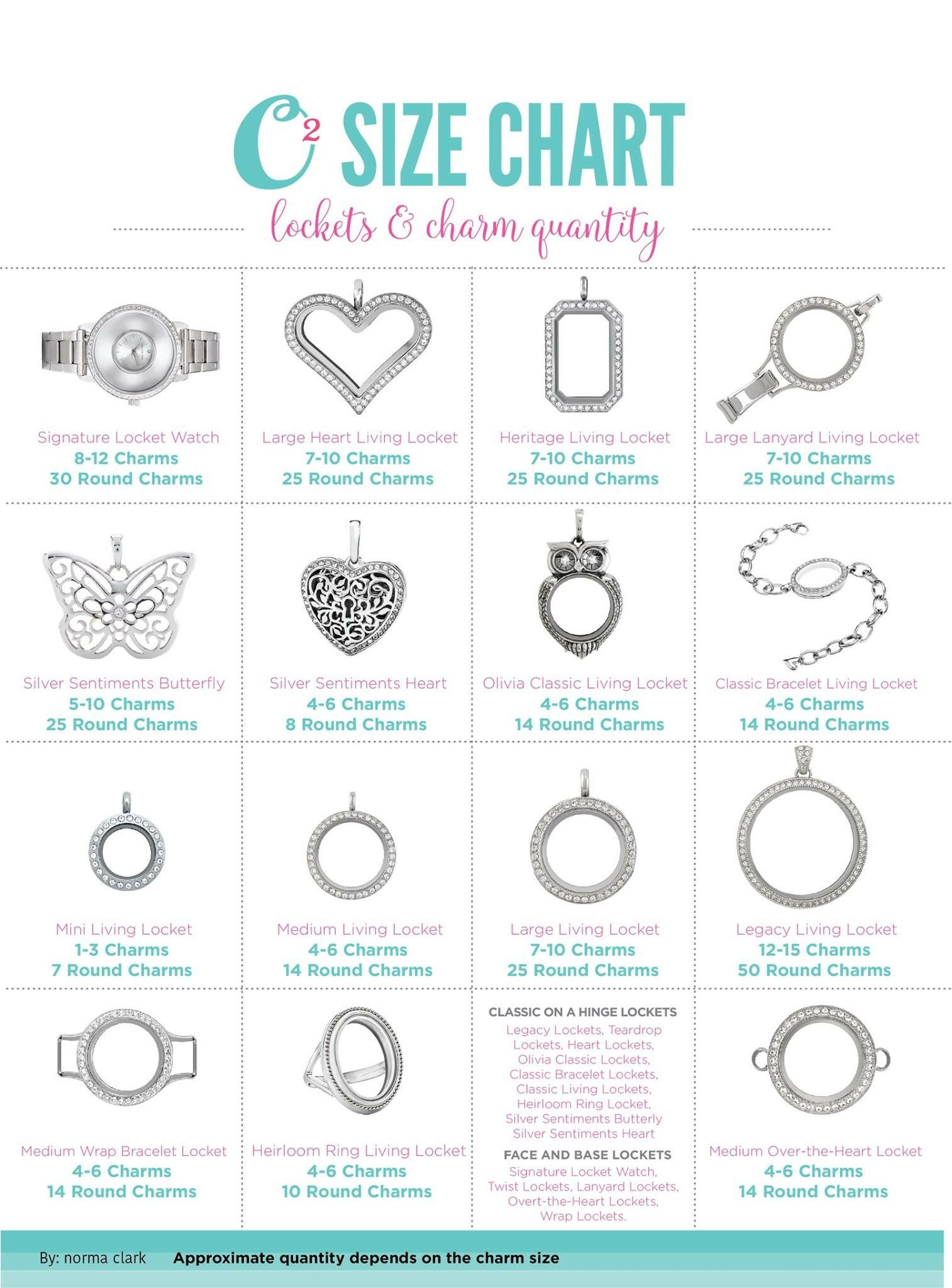 origami owl size chart origami owl living lockets how