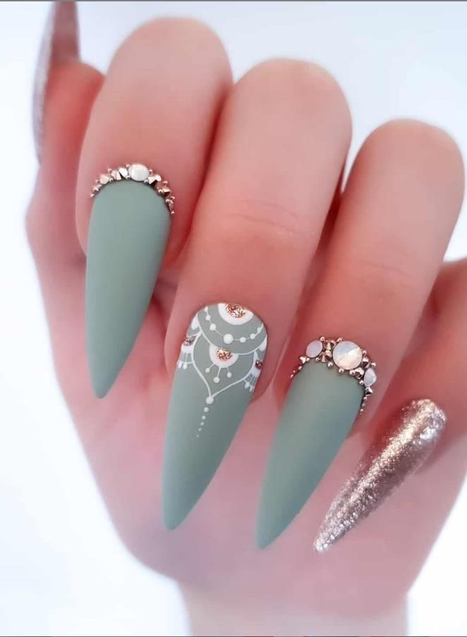 68 Beautiful Stiletto Nails Art Designs And Acrylic Nails Ideas 2020 – Lily Fashion Style