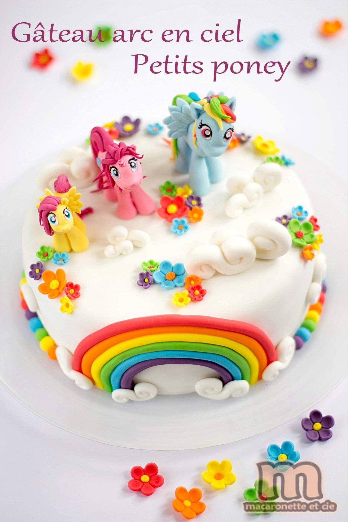 Populaire Gâteau arc en ciel des Petits Poneys - Macaronette et cie | Food  MY14