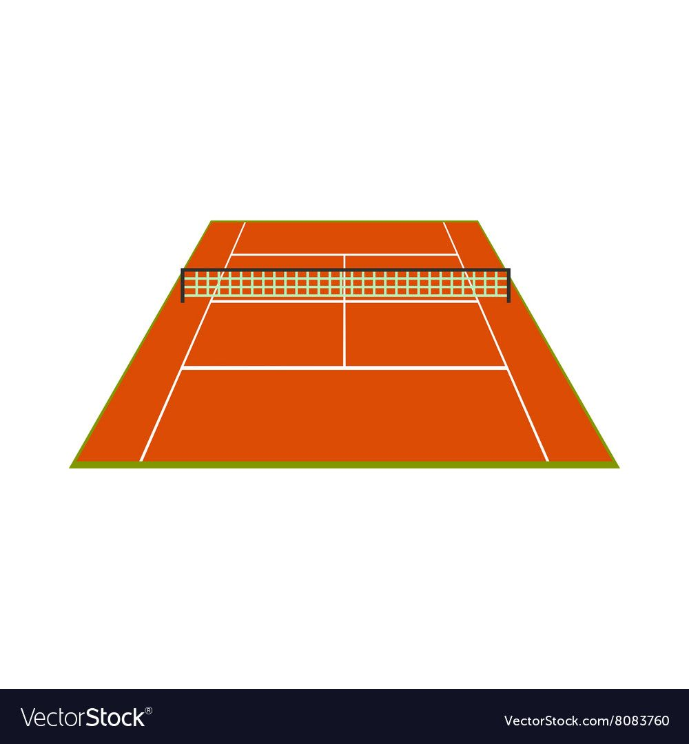 Tennis Court Icon Royalty Free Vector Image Vectorstock Affiliate Icon Royalty Tennis Court A Dragon Silhouette Turtle Silhouette Icon Set Vector