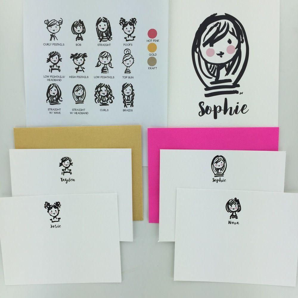 Image of Semi-Custom Brush Pen Note Cards