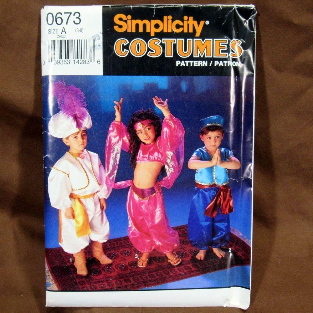 Simplicity Costumes Girls Boys Halloween Costume Sheik Genie Uncut FF #0673 #Simplicity  sc 1 st  Pinterest & Simplicity Costumes Girls Boys Halloween Costume Sheik Genie Uncut ...