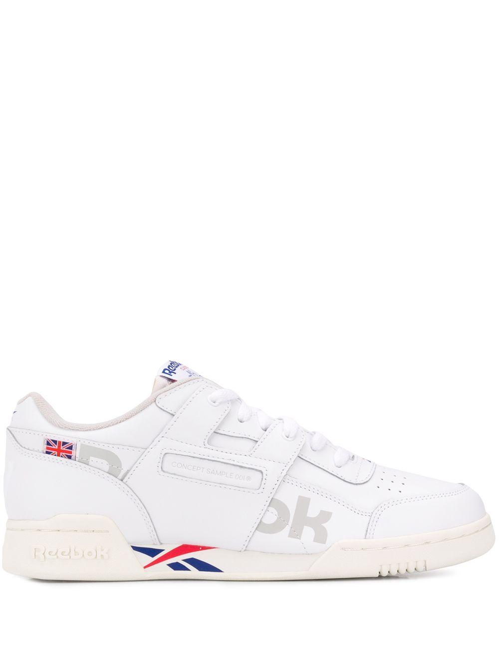 641b97fec7ec REEBOK REEBOK CONTRAST LOGO SNEAKERS - WHITE.  reebok  shoes ...