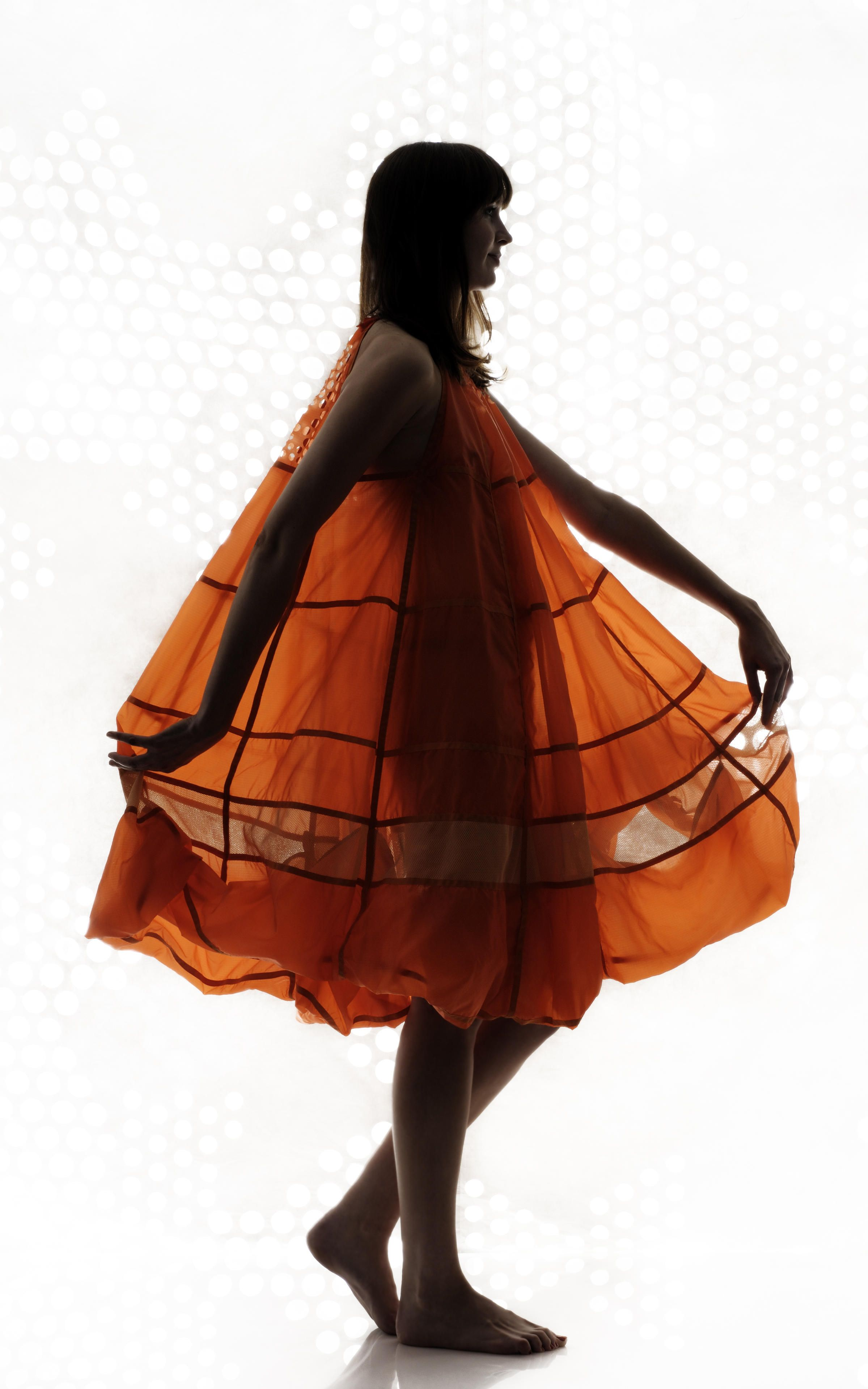Dress made from a recycled #parachute by designer Christopher Raeburn. #upcycle #ecofashion