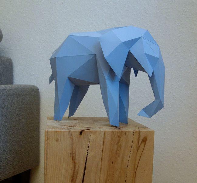 Elefant Gross Diy 13 Farben Von Paperflap Auf Dawanda Com 3d