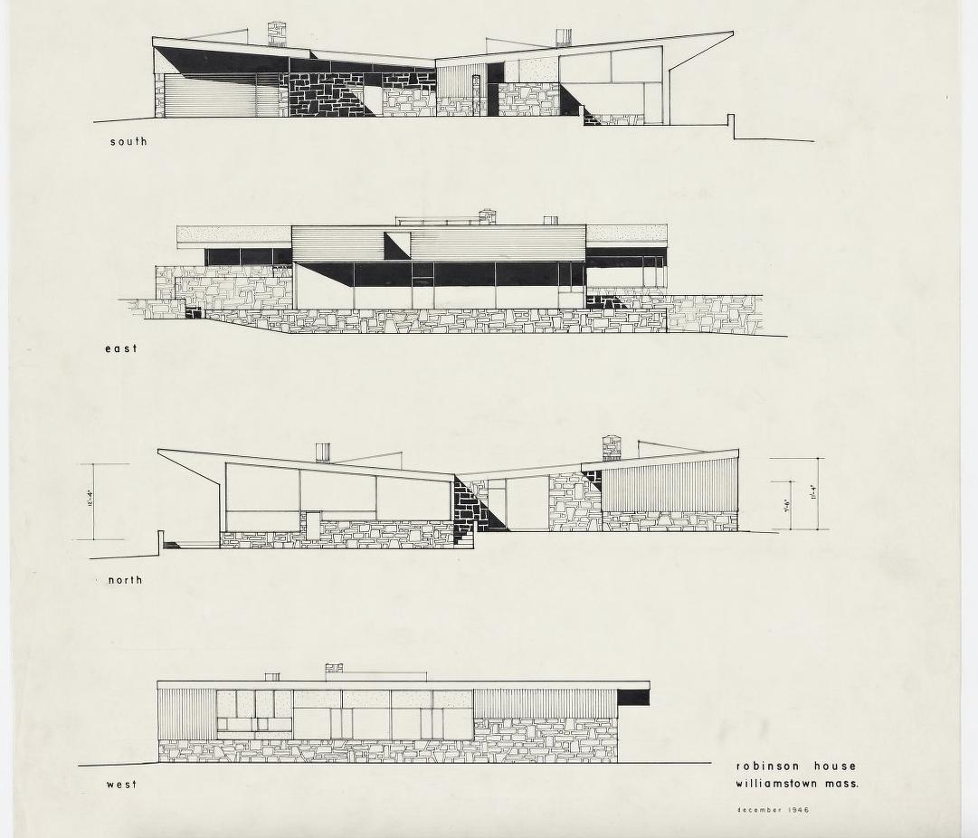 Robinson house marcel breuer modern architecture blog for Robinson house plans