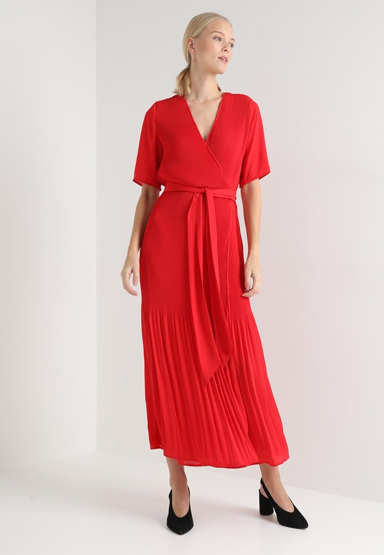 2269442616bfd6 Selected Femme Tall SLFPIPER ANKLE WRAP DRESS - Maxi-jurk - true red -  Zalando