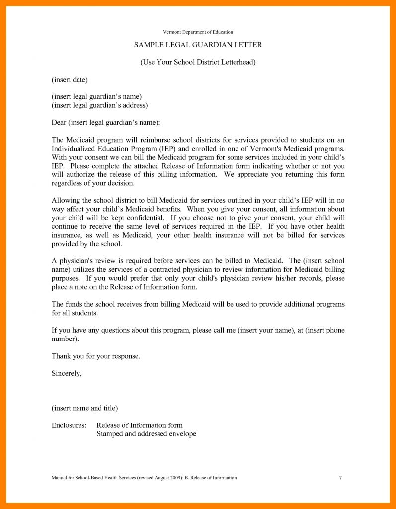 Guardianship Letter Sample Lettering Letter Templates Letter