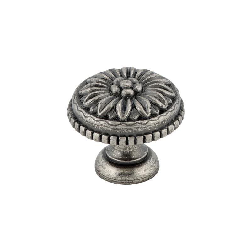 Richelieu BP04330 1-3/16 Inch Diameter Mushroom Cabinet Knob Pewter