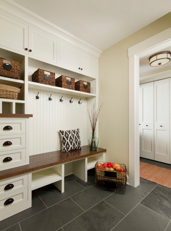 Large Entryway Love The Built In Drawers And Shelves Cubbies With Wood Bench 100 Beautiful Mudrooms Entryways At Remodelaholic