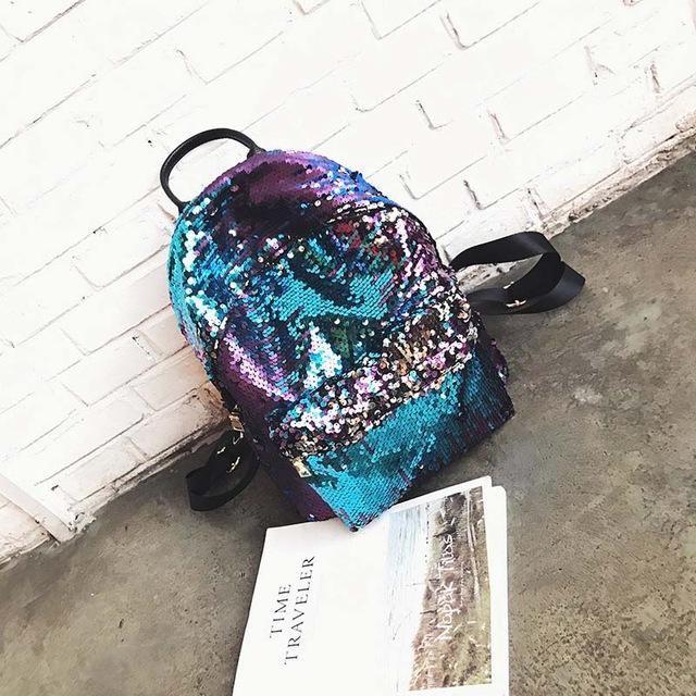 Fashion Backpack Women Sequin Backpacks Teenage Girls