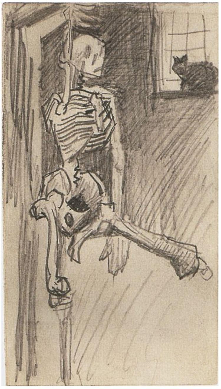 Skeleton By Vincent Van Gogh Drawing Pencil Paris October