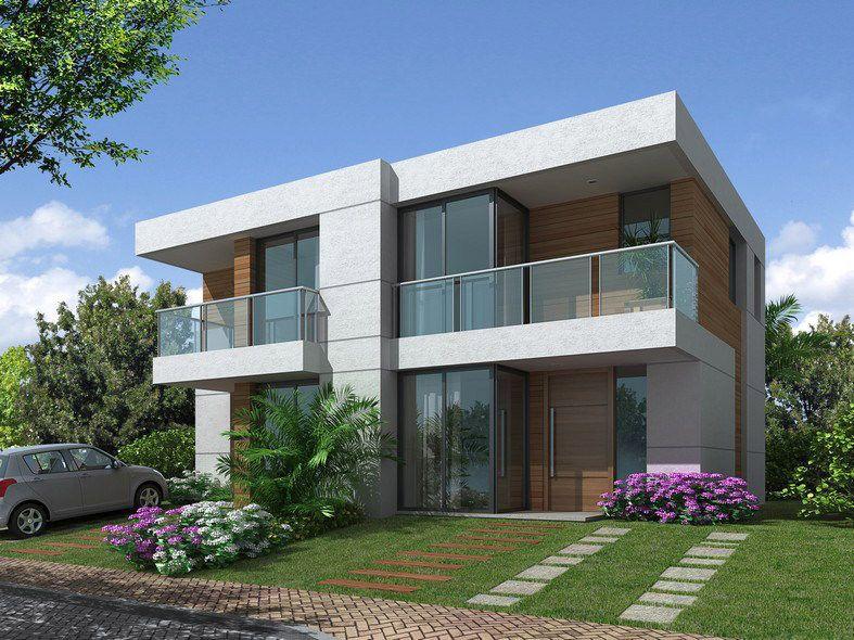 Casas contemporaneas fachadas pequenas pesquisa google for Estilos de casas contemporaneas