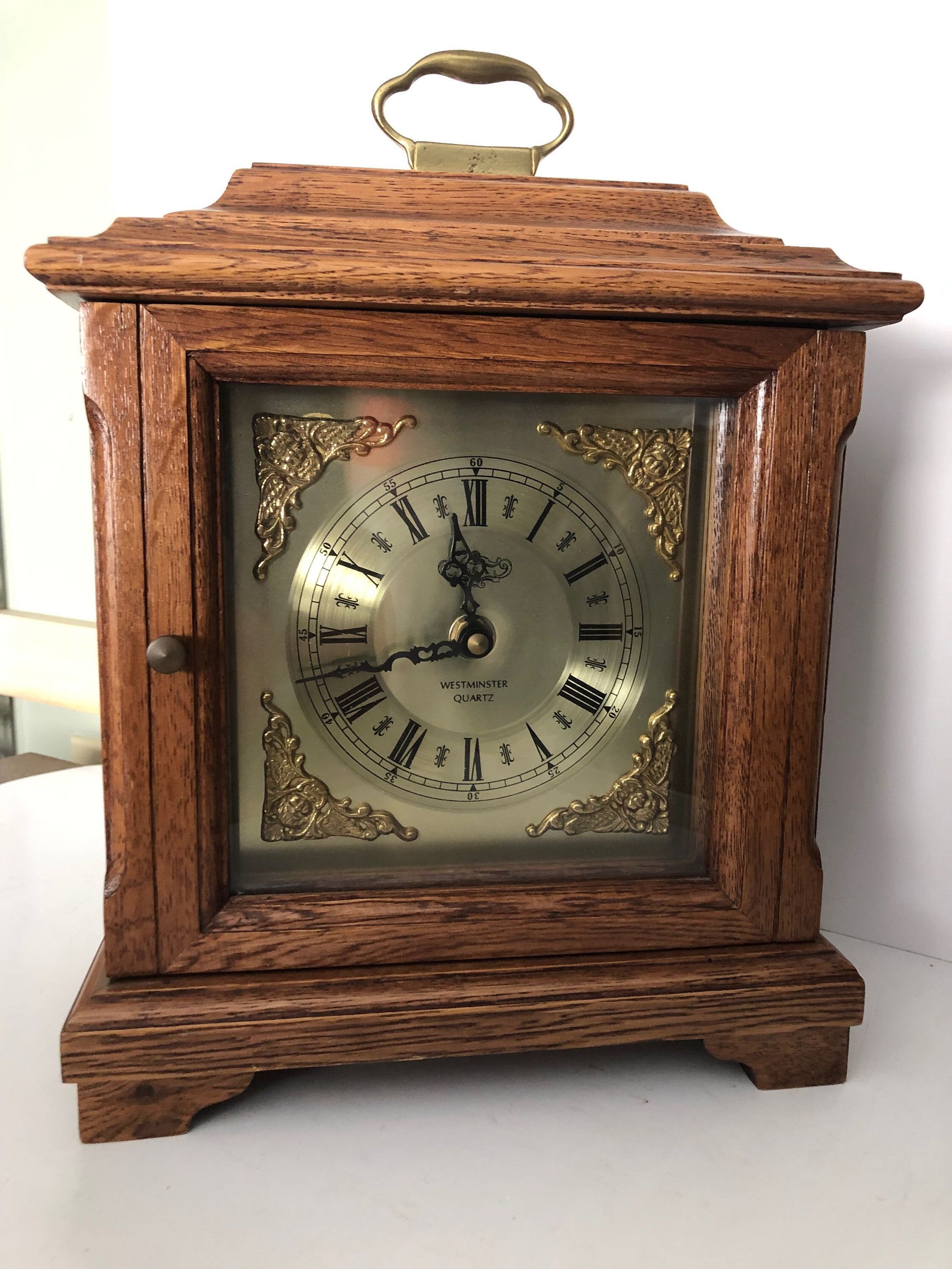 Excited To Share This Item From My Etsy Shop Vintage D A Westminster Quartz Carriage Clock With Chime Hou Antique Mantel Clocks Carriage Clocks Mantel Clock
