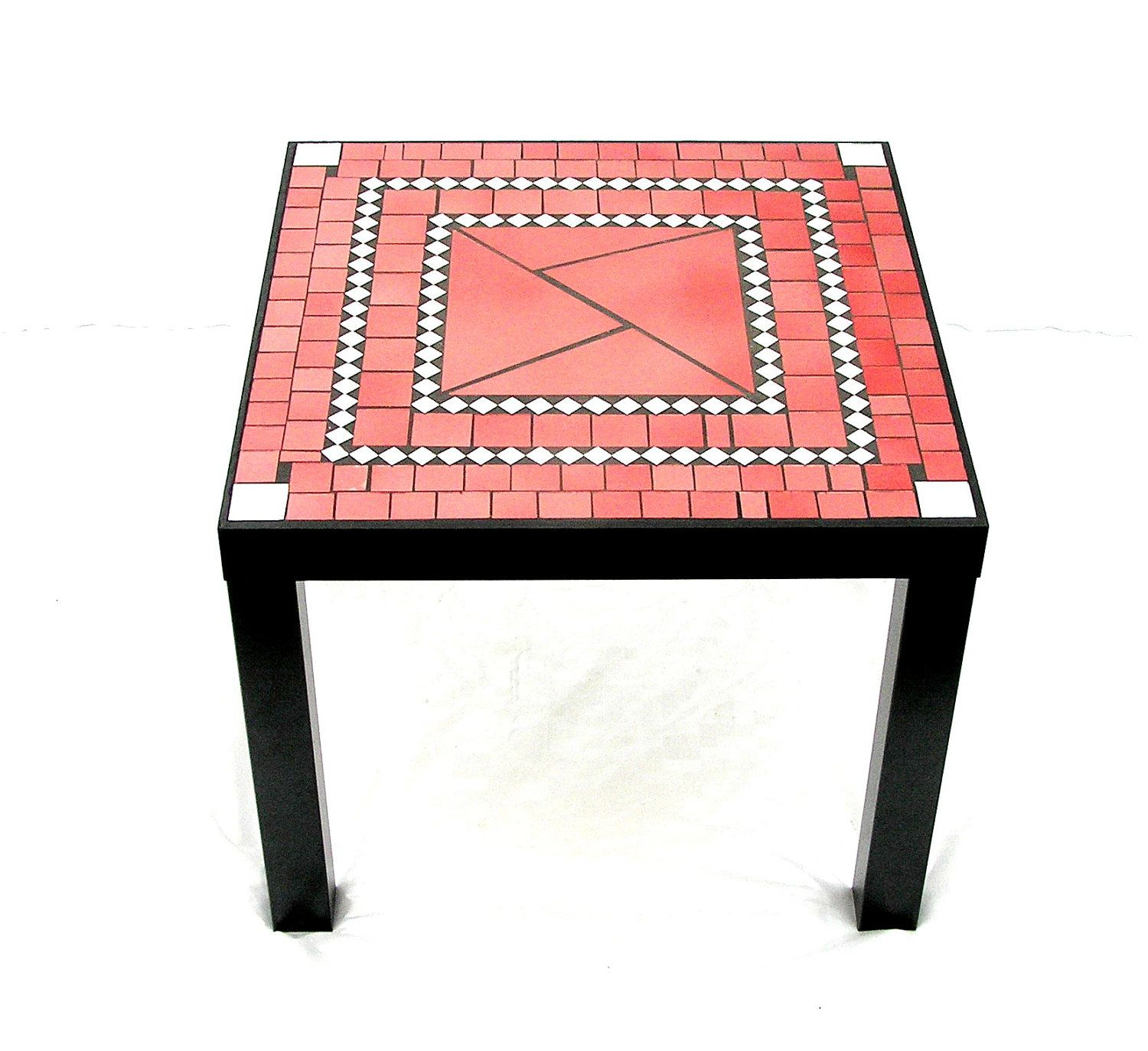 Mosaic Coffee Table Modern Furniture Red Black Salmon Pink Etsy Mosaic Mosaic Coffee Table Red Coffee Tables [ 1374 x 1500 Pixel ]