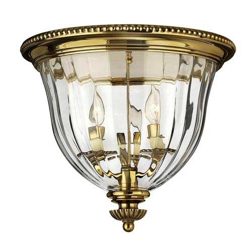 Oxford Small Burnished Brass Flush Mount Ceiling Light