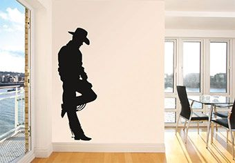 Cowboy Wall Decal For The Wild West Home Decorate Your Space With