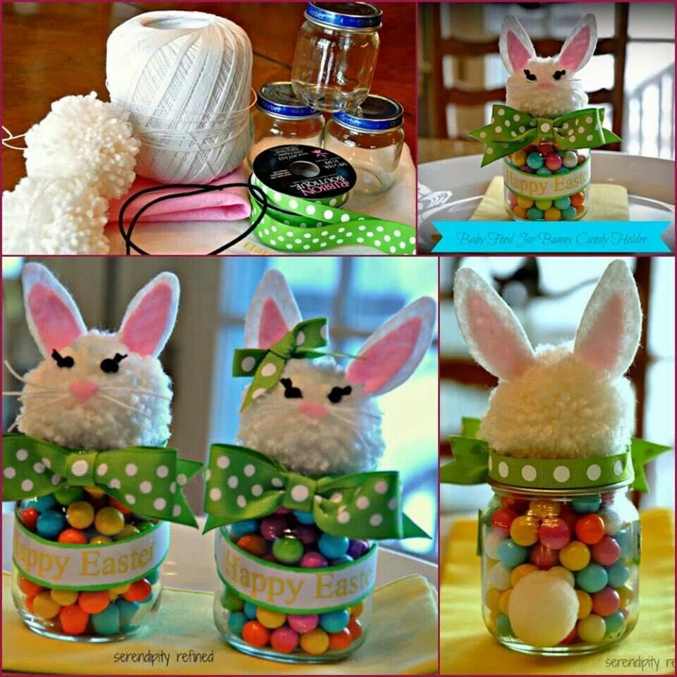 Upcycled baby food jar easter bunny food crafts pinterest food upcycled baby food jar easter bunny food negle Images