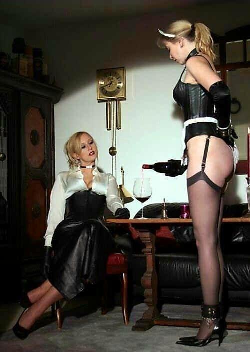Lesbian mistress with maid