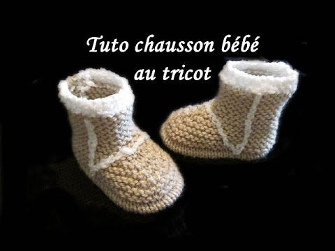 tuto chausson botte bebe au tricot facile tutorial slipper baby boot easy to knit youtube. Black Bedroom Furniture Sets. Home Design Ideas