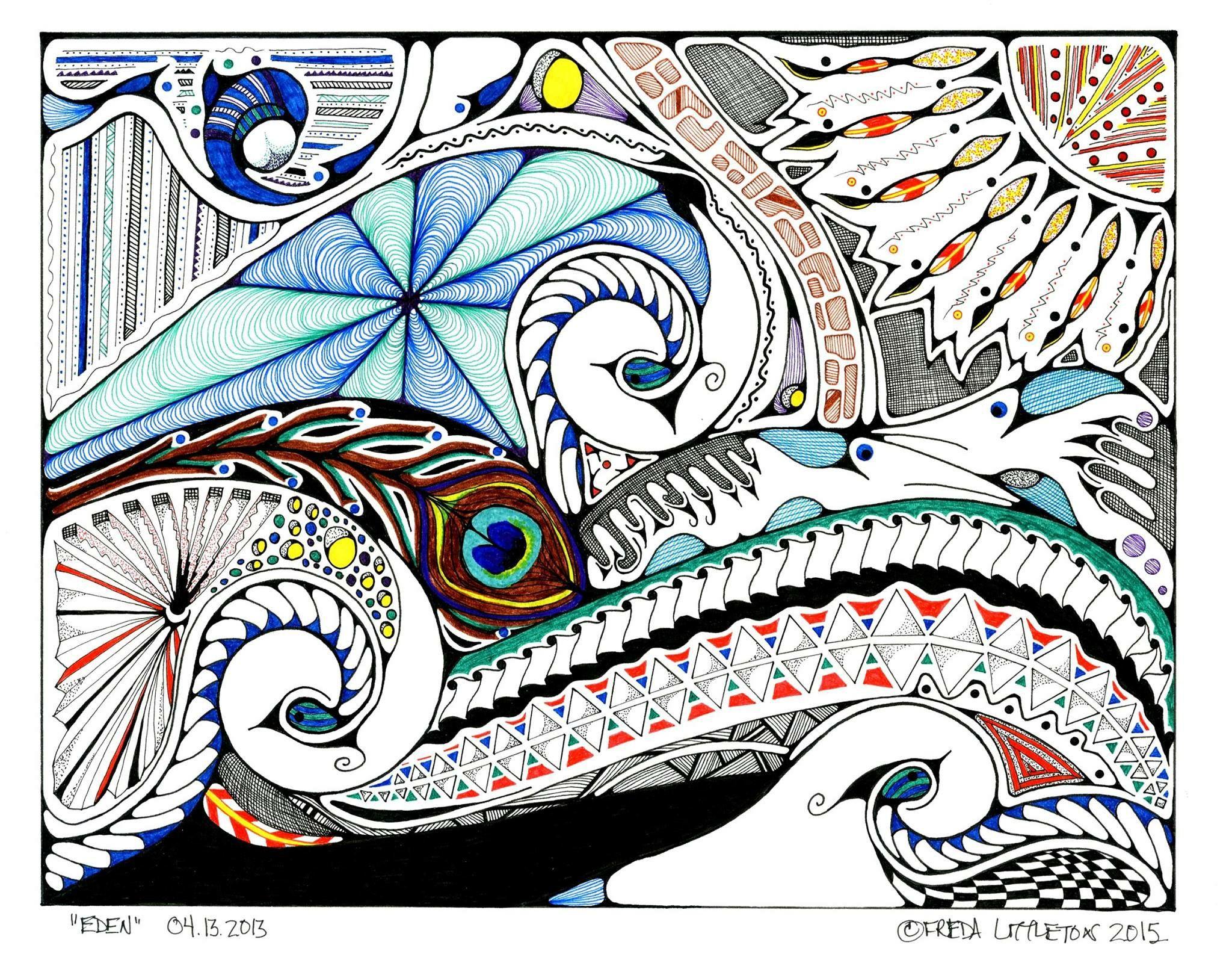 Pin by Stephanie Diamond on Zentangle Designs Zen art