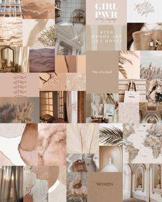 Beige Wall Collage Kit, Tan Aesthetic, DIGITAL Prints, Wall Kit, Aesthetic Room Decor, Instant 40 Pcs