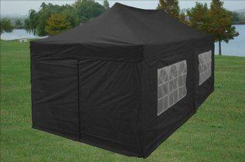Amazon.com 10x20 Pop up 6 Walls Canopy Party Tent Gazebo Ez Black - & Amazon.com: 10x20 Pop up 6 Walls Canopy Party Tent Gazebo Ez Black ...