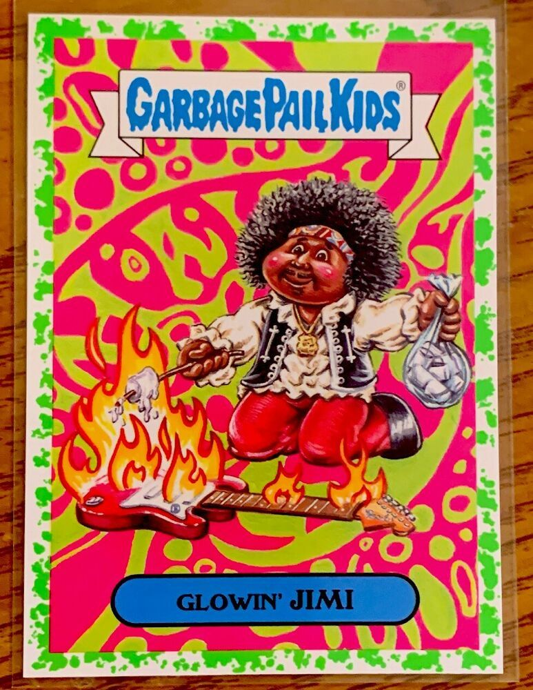2017 Garbage Pail Kids Adam Geddon Glowin Jimi 9a Green Border Green Puke Gpk Garbagepailkids In 2020 Garbage Pail Kids Cards Garbage Pail Kids Pail