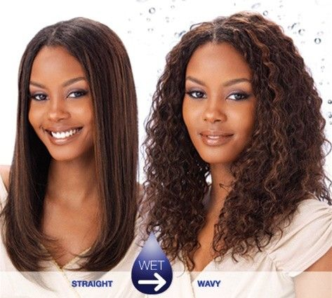 Wet And Wavy Weave Hairstyles Long Layered