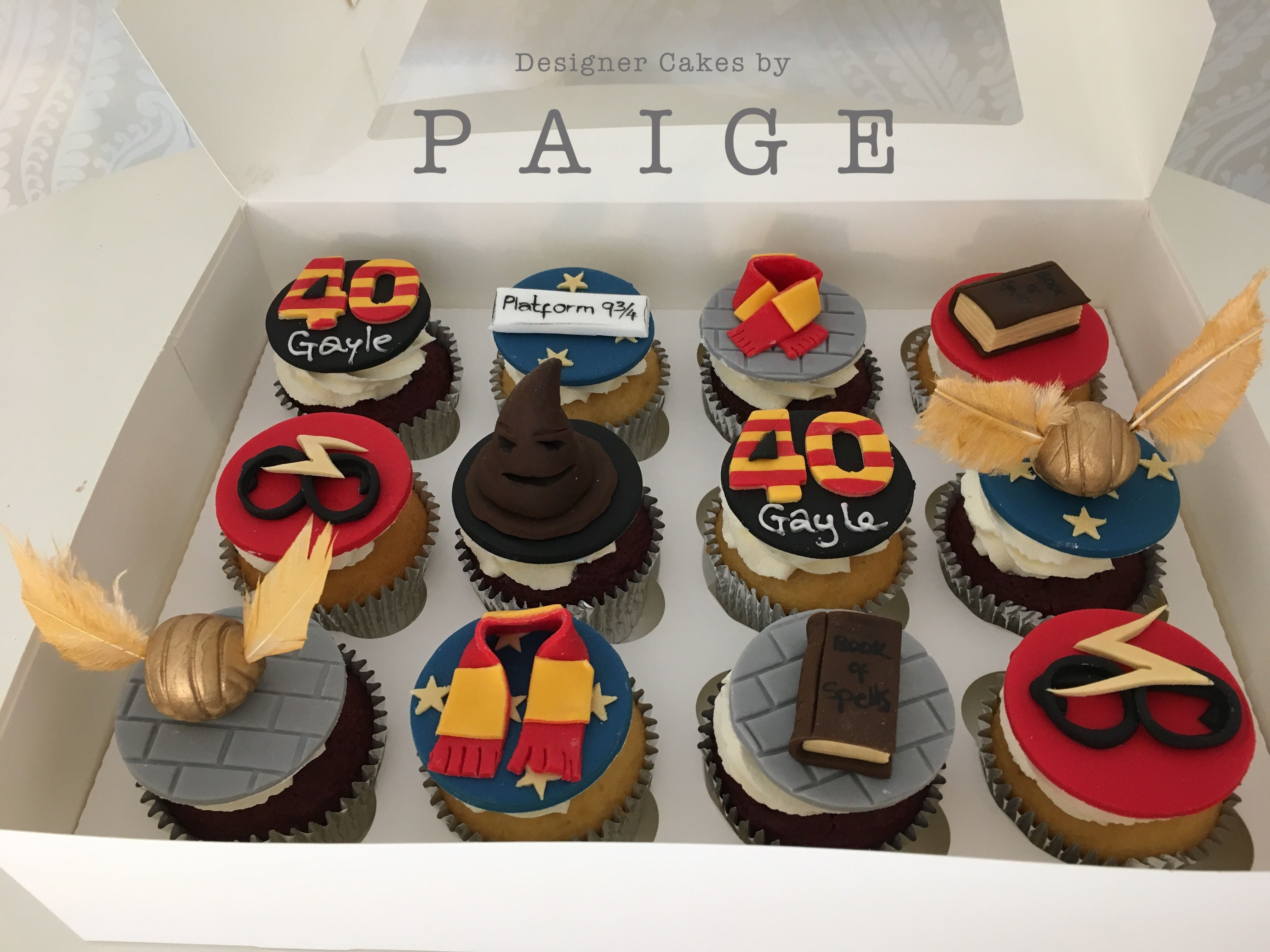 Harry Potter Themed 40th Birthday Cupcakes Cake Designs 40th Birthday Cupcakes Birthday Cupcakes
