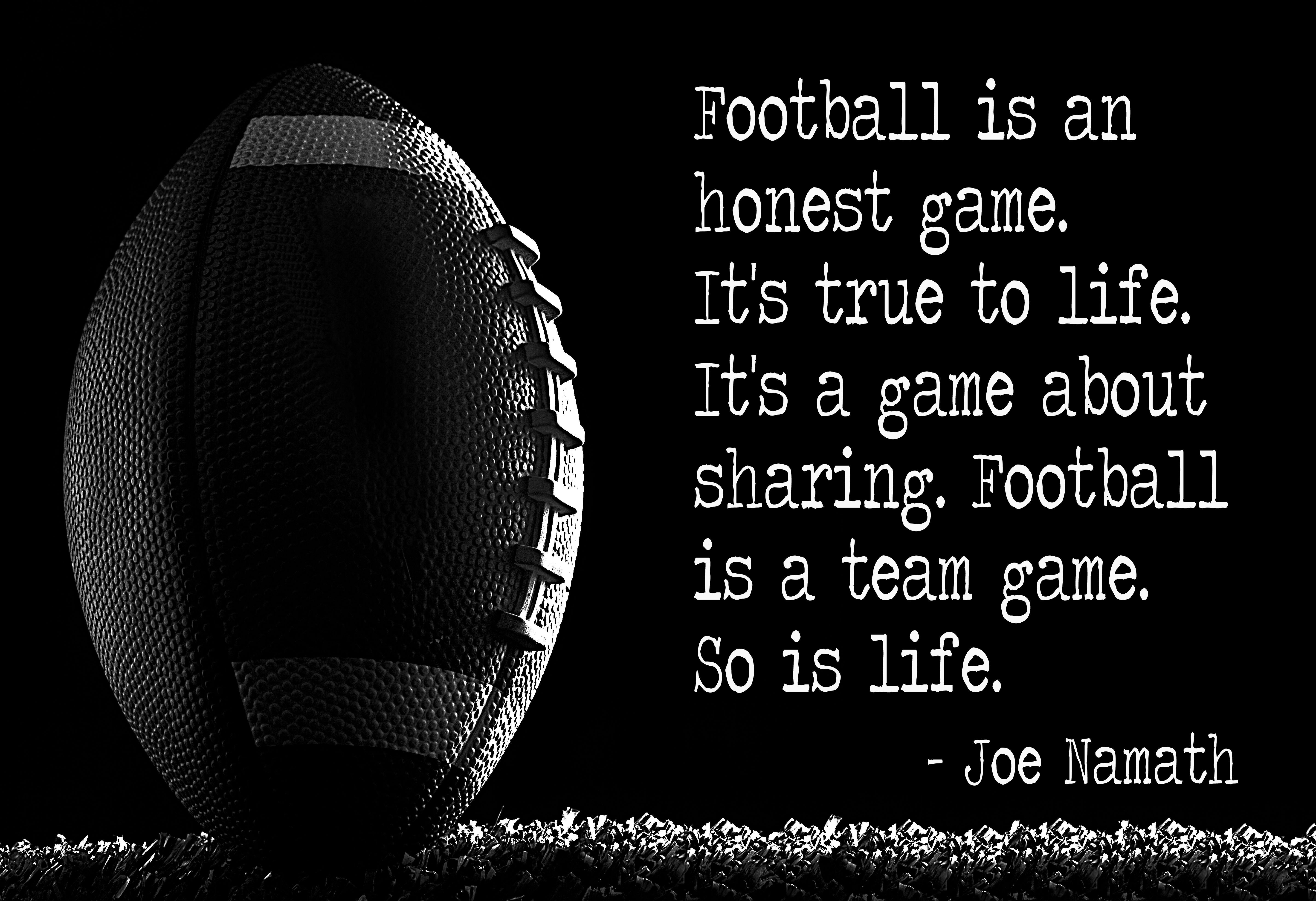 football #quote by Joe #Namath | Football quotes ...