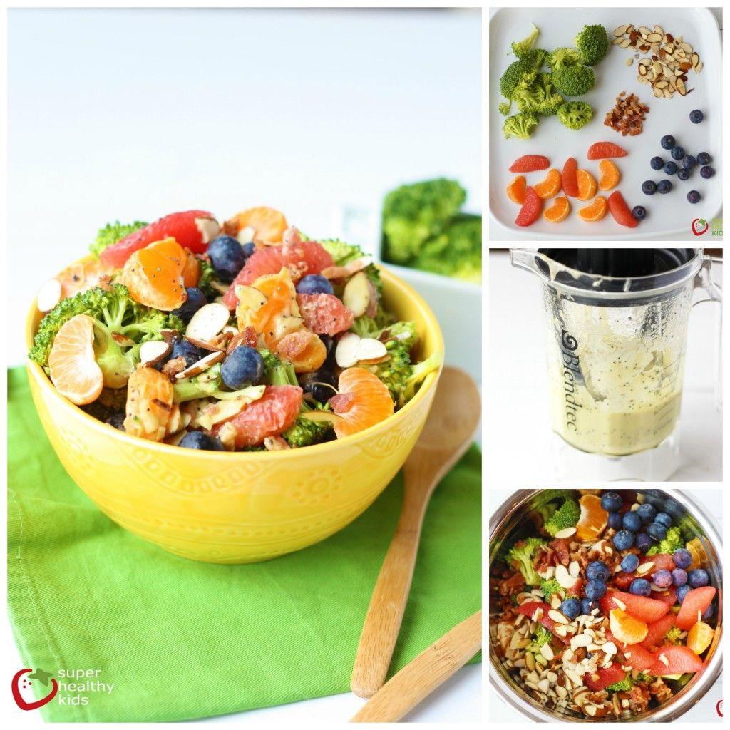 Loaded Broccoli Salad Recipe with Creamy Avocado Citrus Dressing