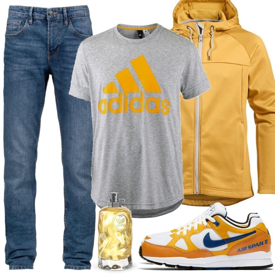 yellow adidas t shirt dress herren