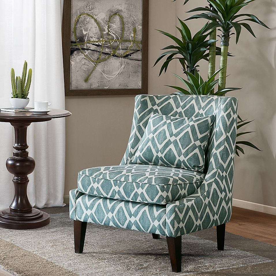 Best Madison Park™ Waverly Swoop Arm Chair In Blue Living 400 x 300