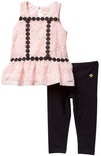 3801e40ea kate spade new york floral mesh tunic & leggings set (Baby Girls)  #babygirl, #promotion