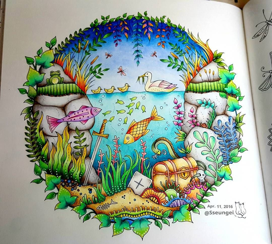 Coloring Books Colouring Forests Enchanted Johanna Basford Secret Garden Drawing Sketches Mysterious Street Art Vintage