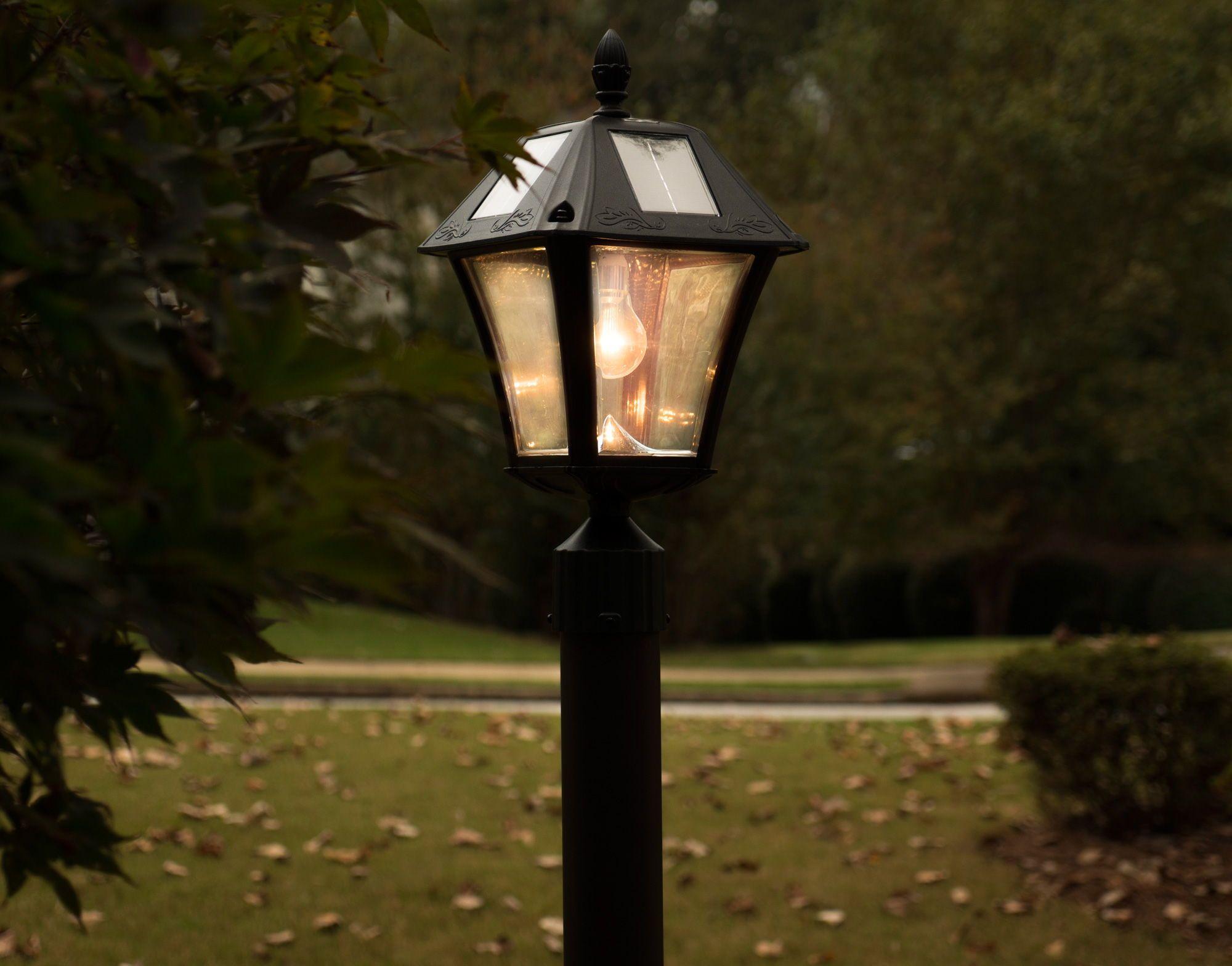 Baytown Ii Bulb Solar Lamp With Gs Solar Led Light Bulb Gs 105b Fpw Solar Led Lights Outdoor Light Fixtures Solar Lamp Post