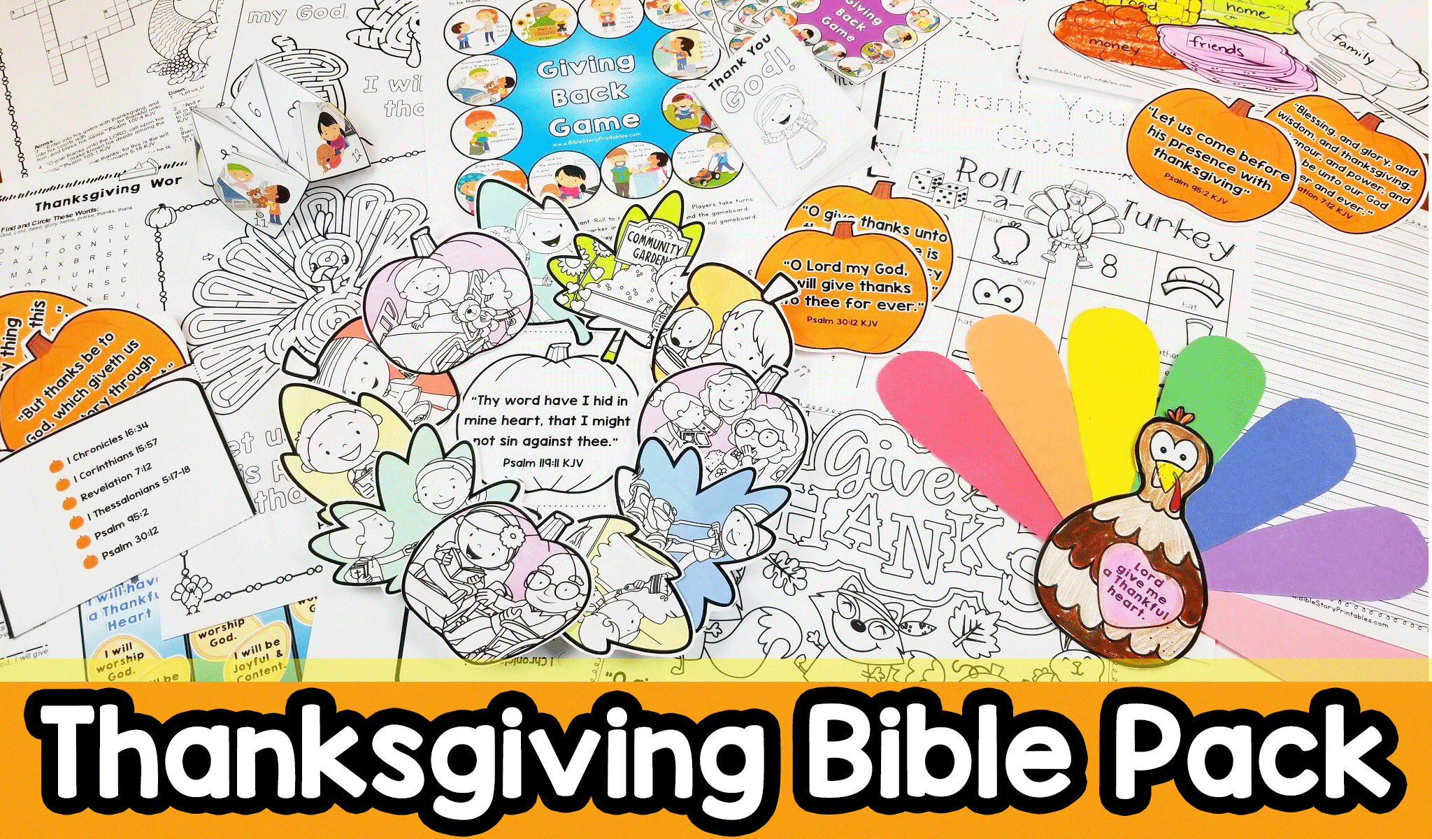 Thanksgiving Bible Activity Pack With Images