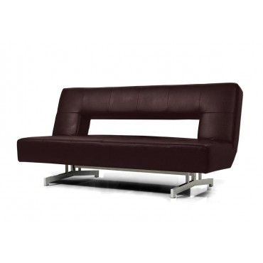 Brilliant Folder Fold Out Espresso Leatherette Sofa Bed Sofas Caraccident5 Cool Chair Designs And Ideas Caraccident5Info