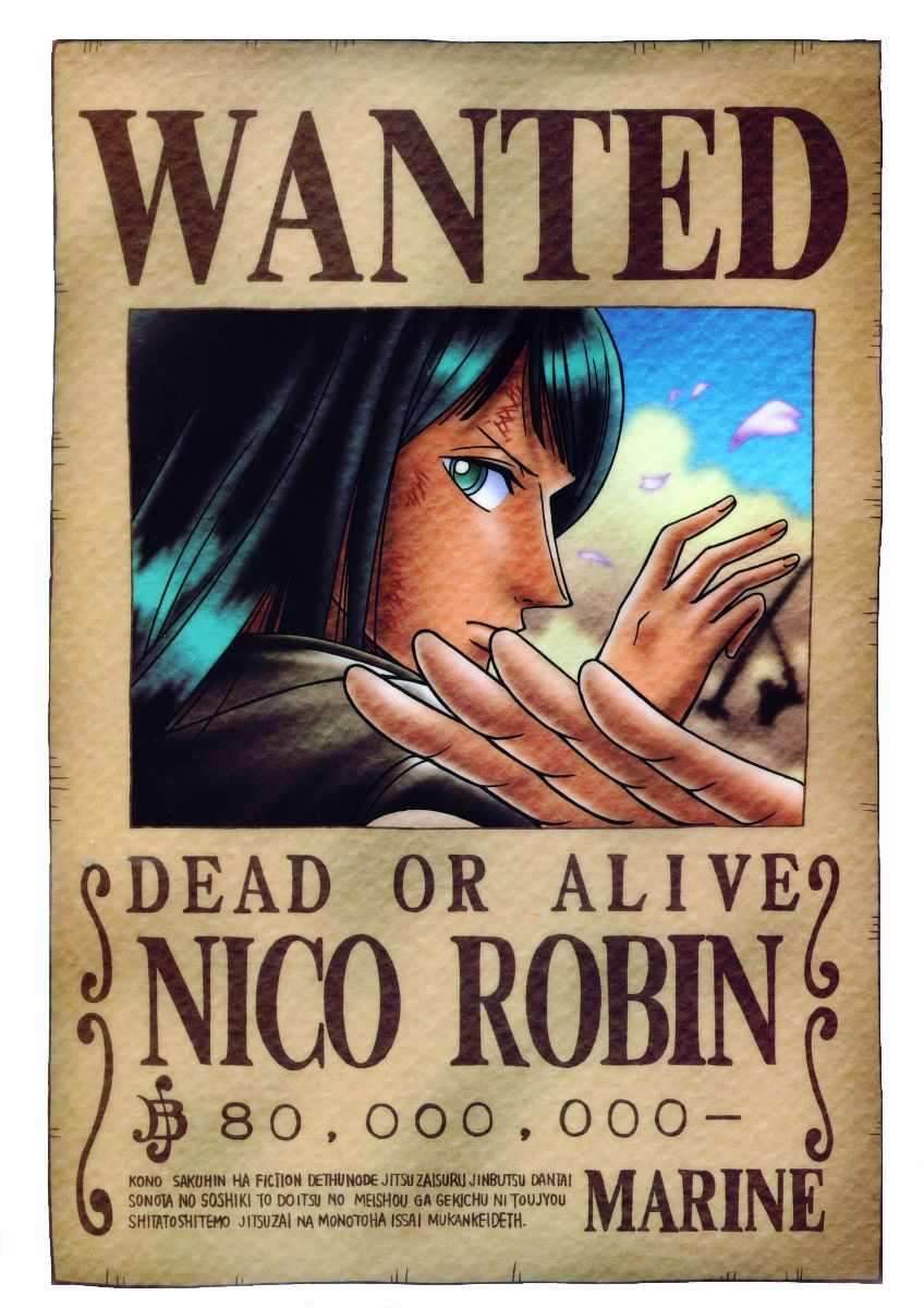 Onepiece Wanted Poster One Piece Anime