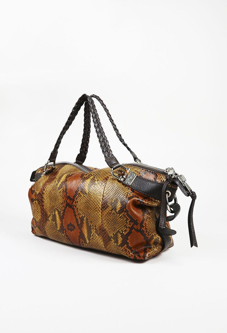 71779bbb1d54 Details about Gucci Bamboo Bar Medium Shoulder Bag - Python