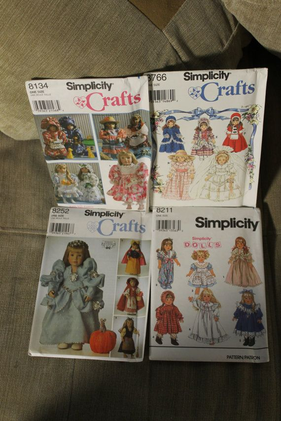 These are 4 Sewing Patterns Simplicity Crafts by YourVintageDays