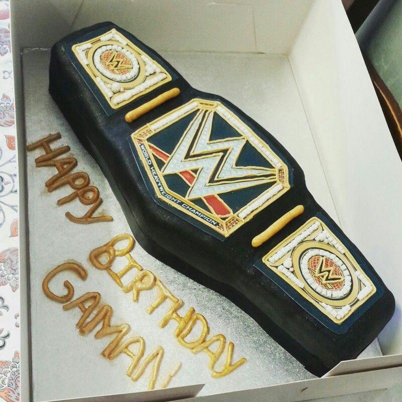 Wwe World Heavyweight Champion Belt Cake Wwe Cake