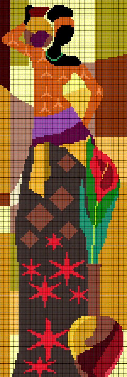 El taller de Ire: Patrón punto de cruz: Africana (3) | Bordados ...